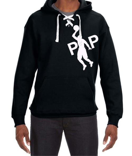 Pipman BBall | Sport Lace Hood Sweatshirt Black/White