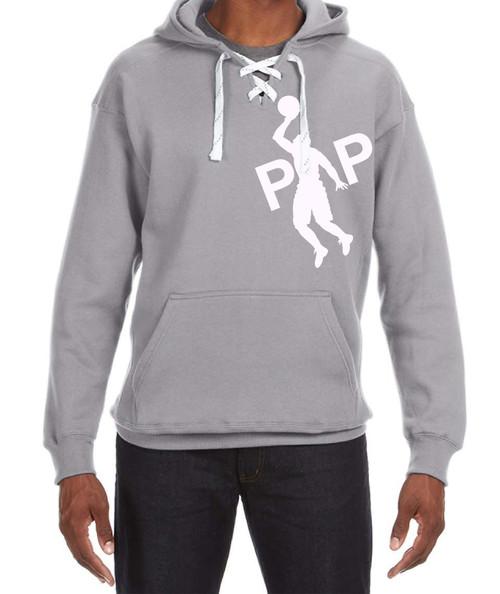 Pipman BBall | Sport Lace Hood Sweatshirt Grey/White