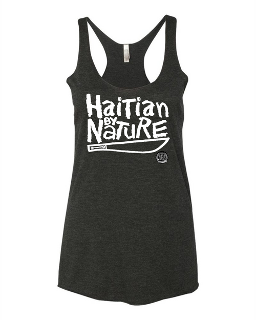 Hispaniola Port & Trade Company HBN Since 1804 Ladies Racerback Tank Top BLK