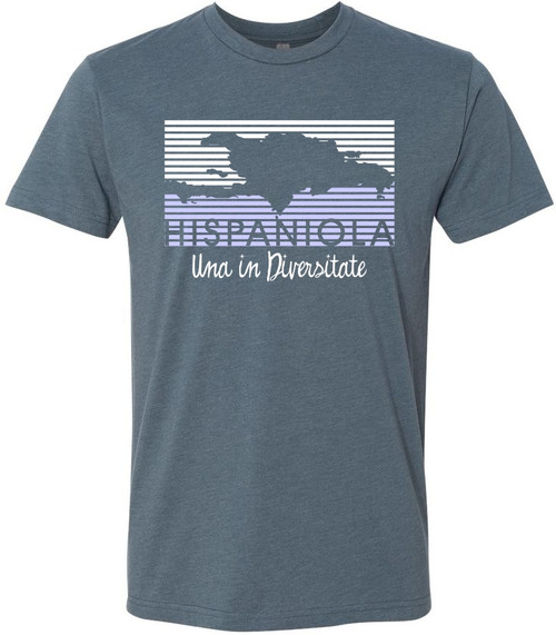 Hispaniola Port & Trade Company | Una in Diversitate Premium Unisex Heather Navy Crew
