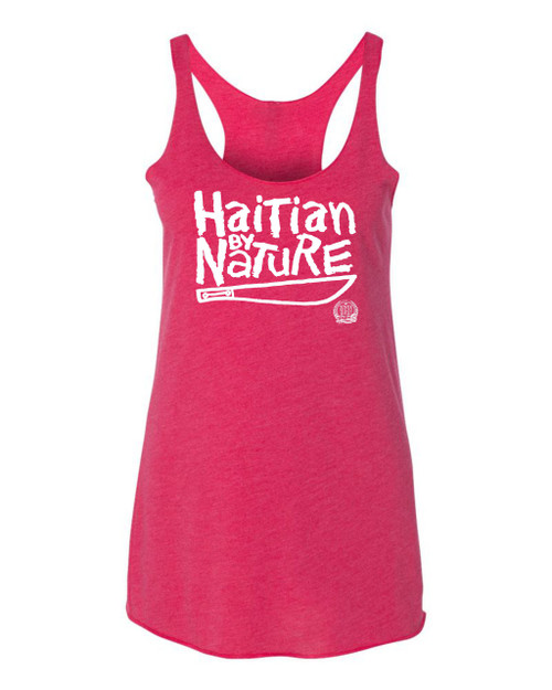 Hispaniola Port & Trade Company HBN Since 1804 Ladies Racerback Tank Top Hot Pink