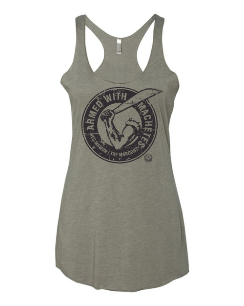 Hispaniola Port & Trade Company AWM Since 1804 Ladies Triblend Racerback Tank H Grey