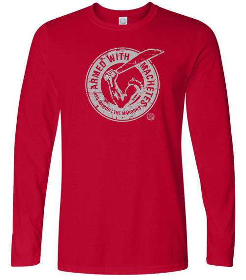 Hispaniola Port & Trade Company AWM Since 1804 Long Sleeve Crew Red