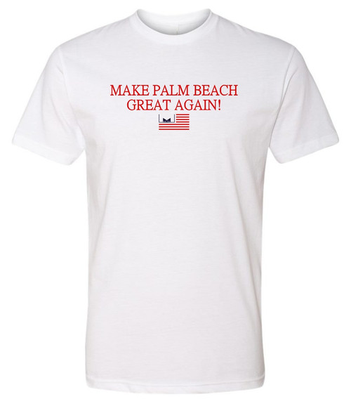 Marvelous Artz - Make Palm Beach Great Again Pride White T-shirt
