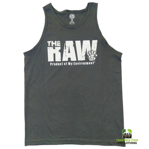 "- Rep Ur Hood ""Raw Environment"" Dark Grey Tank"
