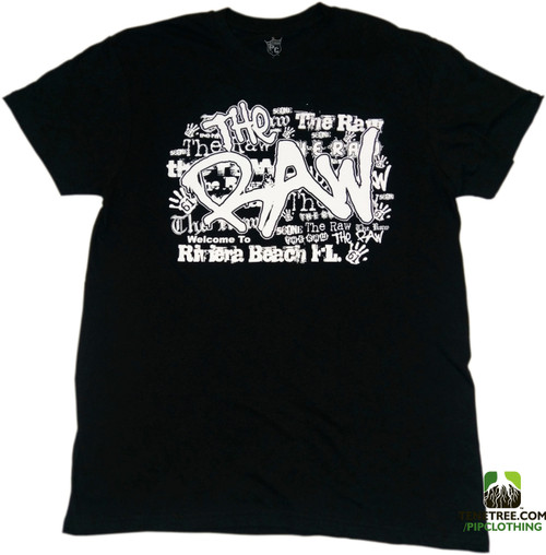 "Pipclothing - Rep Ur Hood ""The Raw"" Black Crew"