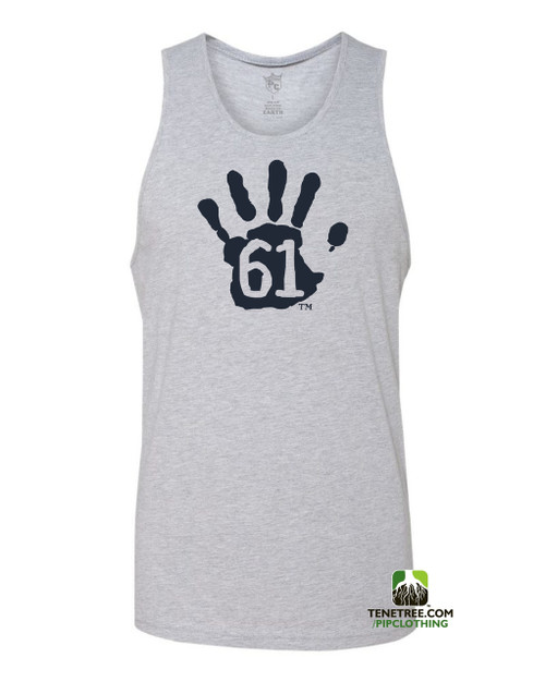 "Pipclothing - Rep Ur Hood ""Hand61"" Light Heather Grey- Navy Tank"