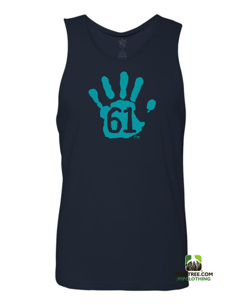 "Pipclothing - Rep Ur Hood ""Hand61"" Navy-Carolina Blue Tank"