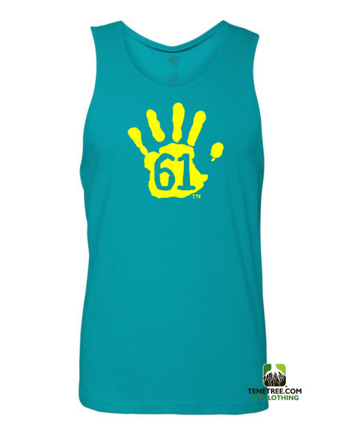 "Pipclothing - Rep Ur Hood ""Hand61"" Carolina Blue-Lemon Tank"