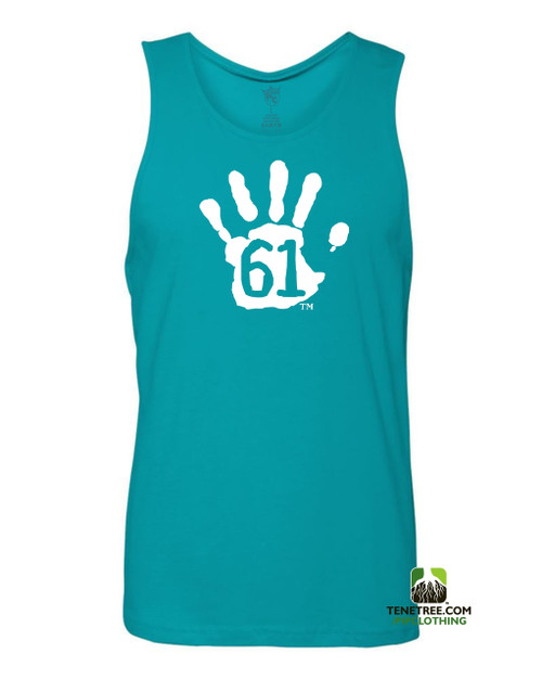 "Pipclothing - Rep Ur Hood ""Hand61"" Carolina Blue-White Tank"