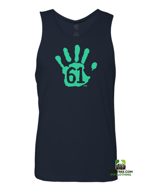 "Pipclothing - Rep Ur Hood ""Hand61"" Navy-Light Blue Tank"