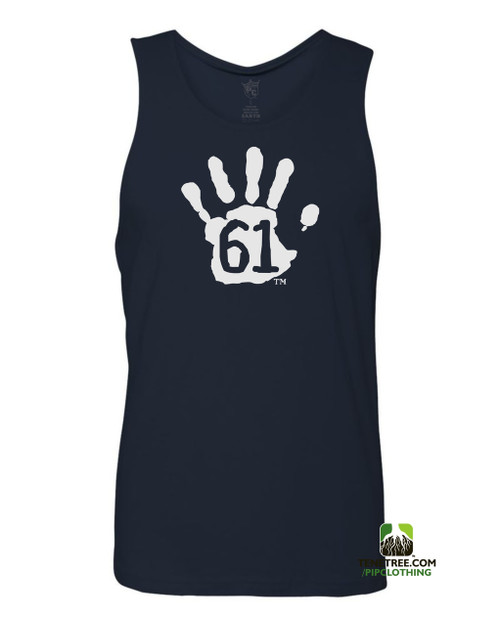 "Pipclothing - Rep Ur Hood ""Hand61"" Navy-White Tank"