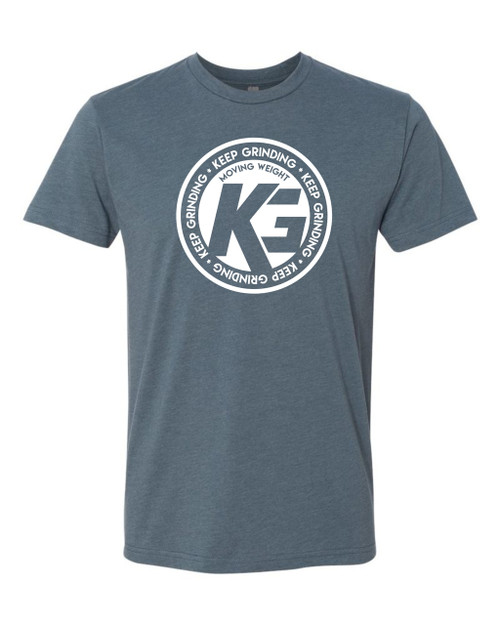 Keep Grinding Apparel | Circa Art - on a Indigo 100% Cotton Slim-Fit Tees