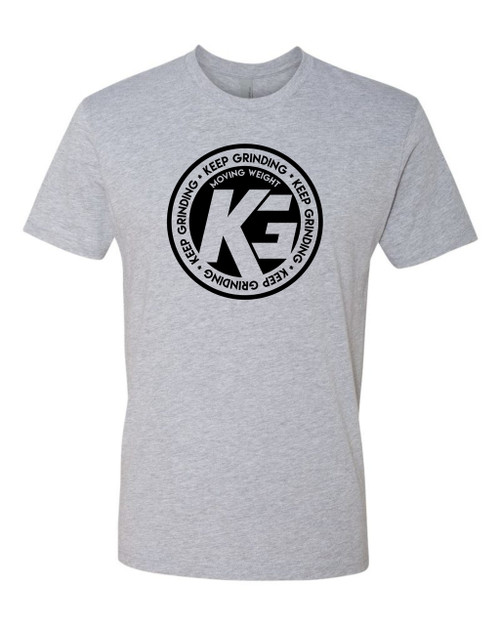 Keep Grinding Apparel | Circa Art - on a Heather 100% Cotton Slim-Fit Tees