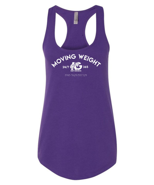 Keep Grinding Apparel | Moving Weight - Purple Racerback Slim-Fit Tank
