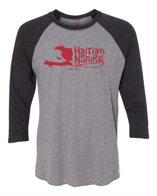 HISPANIOLA PORT & TRADE COMPANY HBN MAP TRIBLEND RAGLAN BLACK