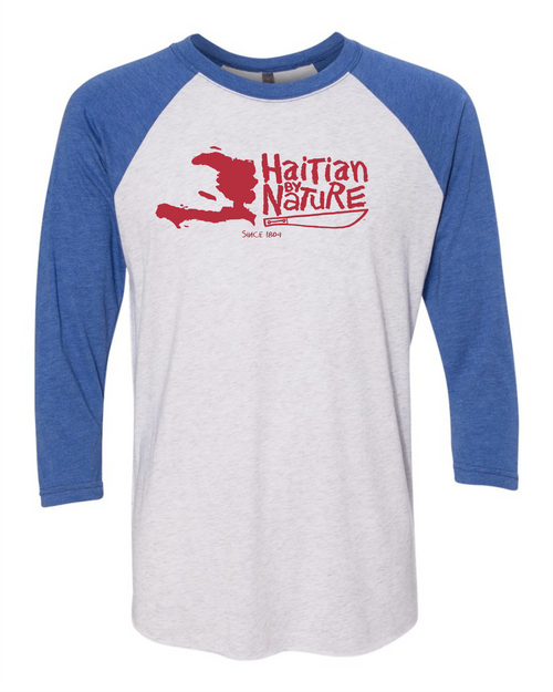 HISPANIOLA PORT & TRADE COMPANY HBN MAP TRIBLEND RAGLAN BLU