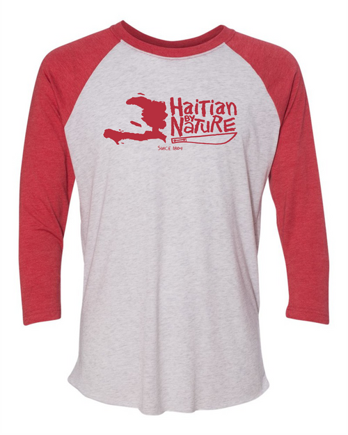HISPANIOLA PORT & TRADE COMPANY HBN MAP TRIBLEND RAGLAN H RED