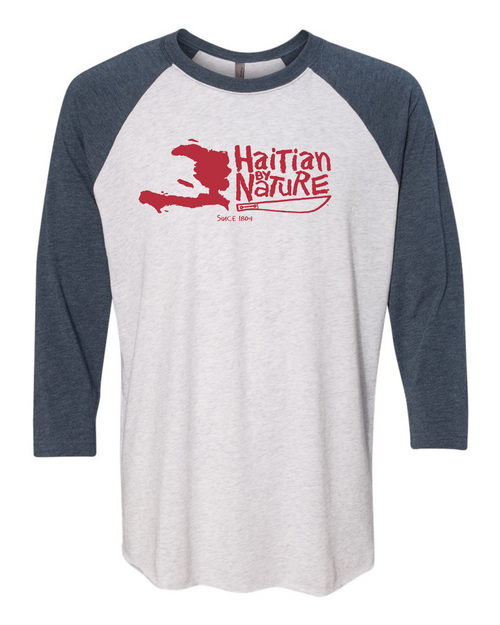 HISPANIOLA PORT & TRADE COMPANY HBN MAP TRIBLEND RAGLAN NAVY