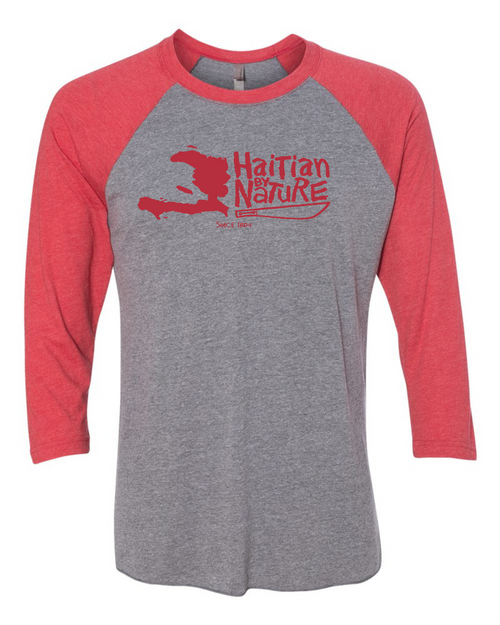 HISPANIOLA PORT & TRADE COMPANY HBN MAP TRIBLEND RAGLAN RED