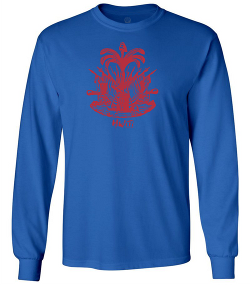 HISPANIOLA PORT & TRADE COMPANY PALMA LONG SLEEVE CREW BLUE RED