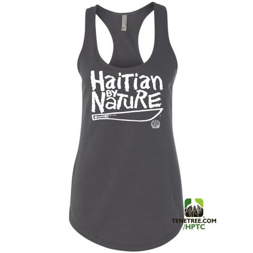 Hispaniola Port & Trade Company HBN Ladies Tank Charcoal White