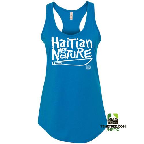 Hispaniola Port & Trade Company HBN Ladies Tank Turquoise White