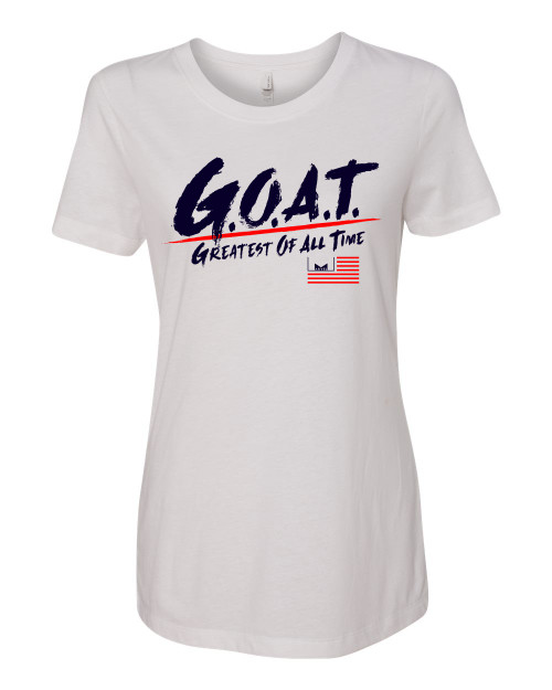 Marvelous Artz - GOAT Pride White Red Navy Ladies Crew