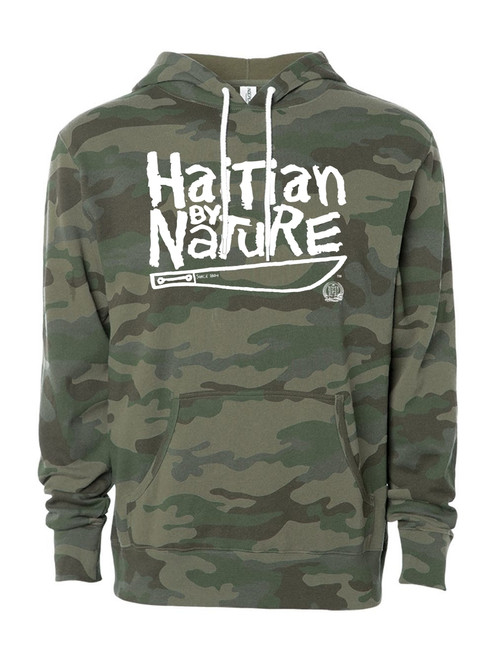 Hispaniola Port & Trade Company | H.B.N Since 1804 Unisex Green Camo White Hoodie