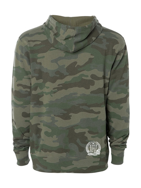 Hispaniola Port & Trade Company | H.B.N Since 1804 Unisex Green Camo White Hoodie Back
