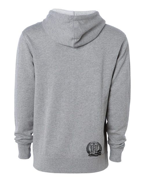 Hispaniola Port & Trade Company | H.B.N Since 1804 Unisex Heather Grey Black Hoodie