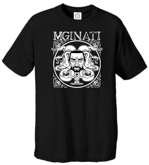 MGINATI THREADS COLLECTIONS BLACK WHITE CIRCSQUARE TEE
