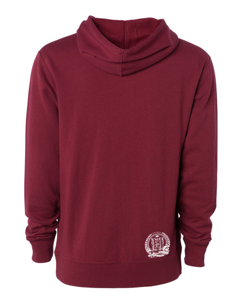 Hispaniola Port & Trade Company | H.B.N Since 1804 Unisex Cardinal White Hoodie Back