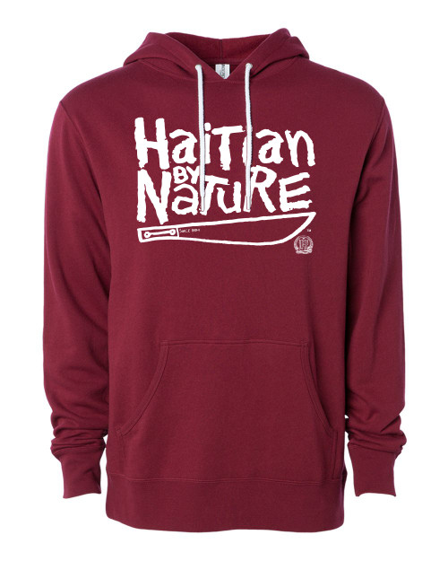 Hispaniola Port & Trade Company | H.B.N Since 1804 Unisex Cardinal White Hoodie