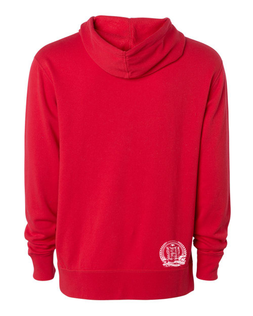Hispaniola Port & Trade Company | H.B.N Since 1804 Unisex Red White Hoodie Back