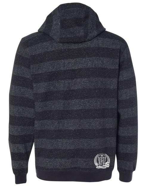 Hispaniola Port & Trade Company | H.B.N Since 1804 Unisex Black Charcoal White Striped Hoodie Back