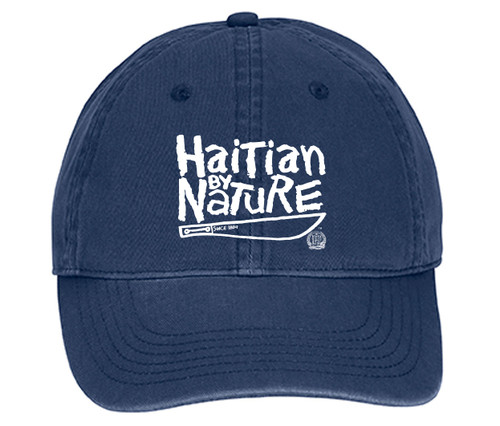 "Hispaniola Port & Trade Company | ""Haitian By Nature"" Navy Cap"