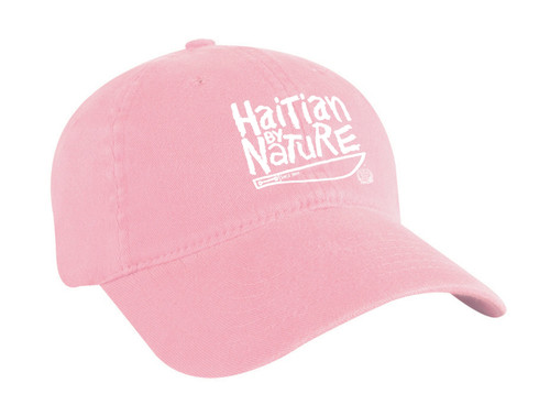 "Hispaniola Port & Trade Company | ""Haitian By Nature"" Pink Cap"