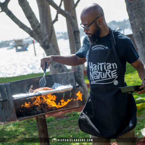 "Hispaniola Port & Trade Company | ""Haitian By Nature"" Premium PolyCotton Twill Apron"