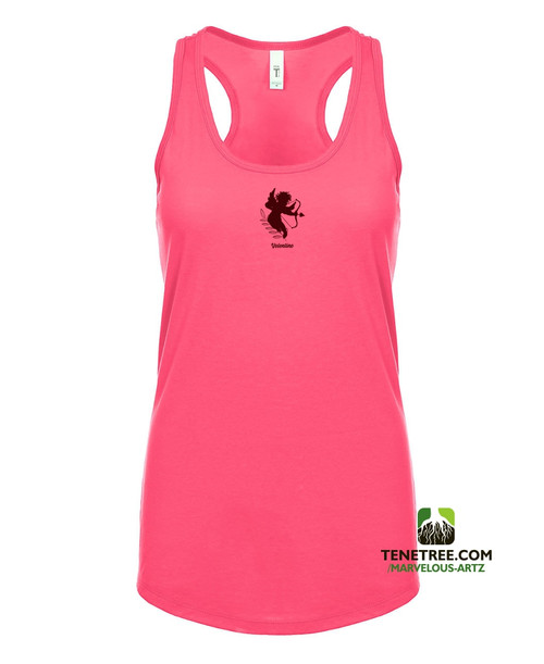 Marvelous Artz - Velentine Ladies Tanks Hot Pink Burgundy Front