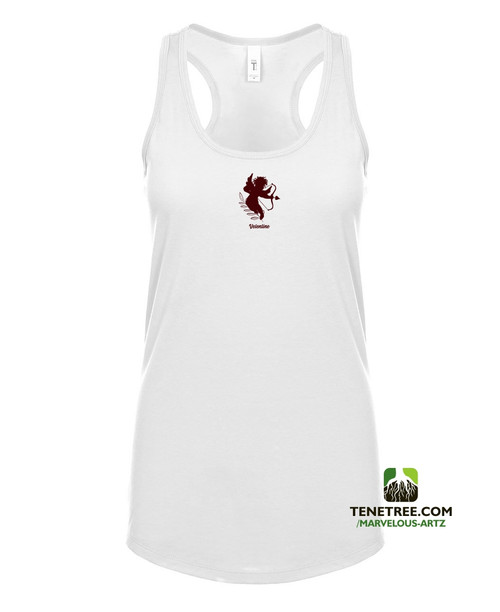 Marvelous Artz - Velentine Ladies Tanks White Burgundy Front