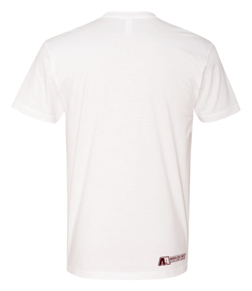 "Marvelous Artz - ""Velentine Logo"" Tees White Burgundy Red Back"