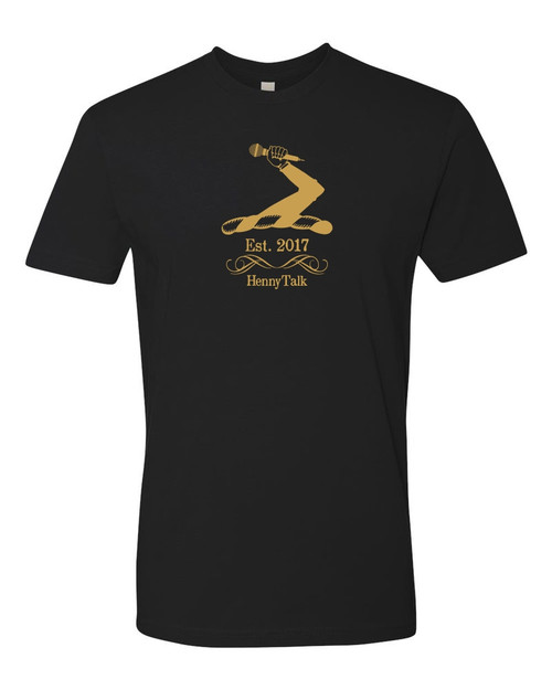 UGTV - Henny Talk Arms Tees Black Gold Front