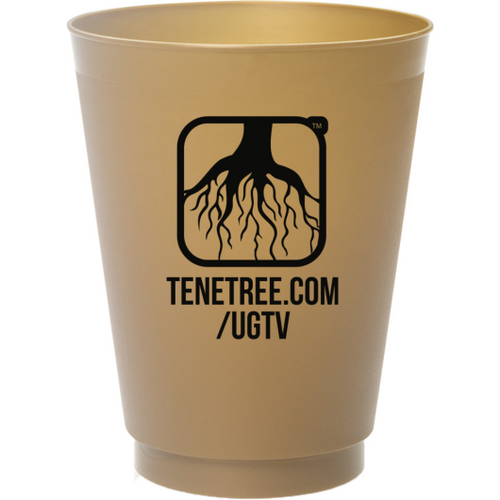 UGTV - Henny Talk Frosted Cups Gold Black Back