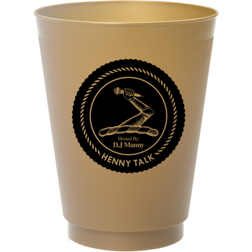 UGTV - Henny Talk Frosted Cups Gold Black Front