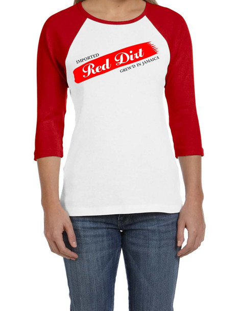 BlackCotton | Red Dirt Premier Raglan Ladies Tee WH-RD