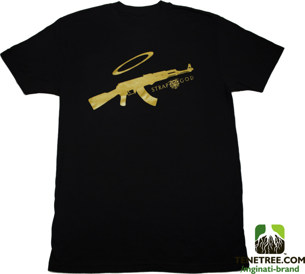 Mginati Brand | Strap God Special Edition Black&Gold Tee