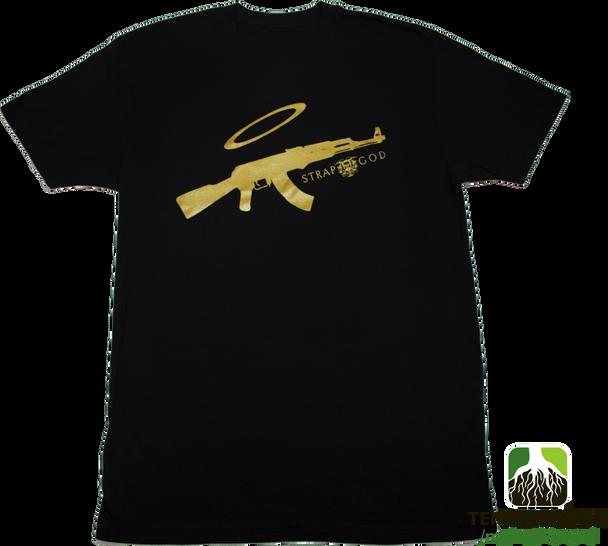 Mginati Brand | Strap God Special Edition Black&Gold Tee