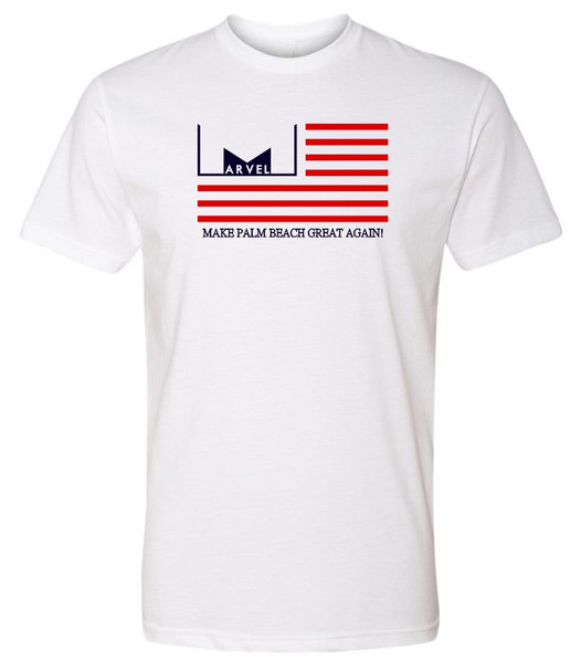 Marvelous Artz - Make Palm Beach Great Again Pride White Crew