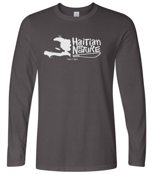 HISPANIOLA PORT & TRADE COMPANY HBN MAP LONG SLEEVE GRAY